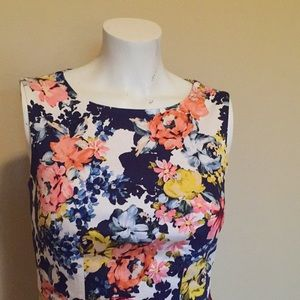 The Limited floral sheath dress 0P